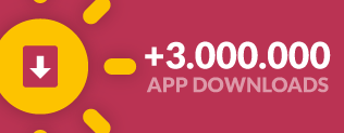 More than 3 million app downloads